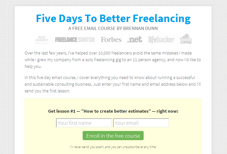 Five Days to Better Freelancing