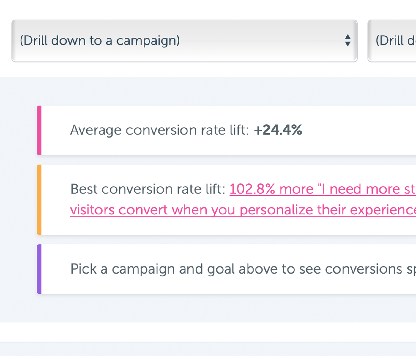 Campaigns are automatically A/B tested, so you can rest assured knowing that you're getting an R.O.I.
